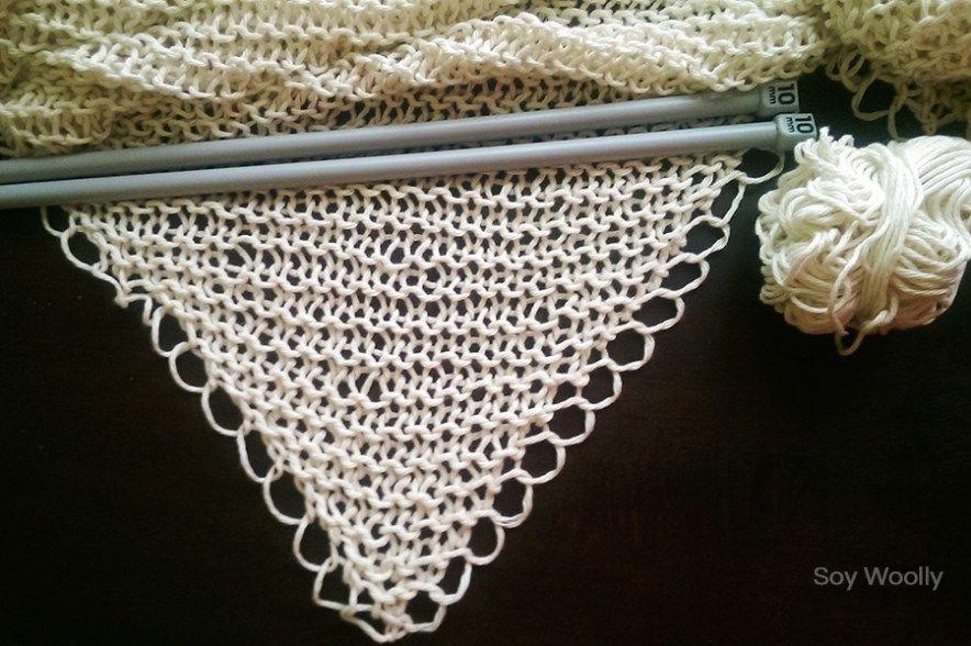 Tejer un chal en triangulo punto-Tres patrones-Soy Woolly   GCH ...