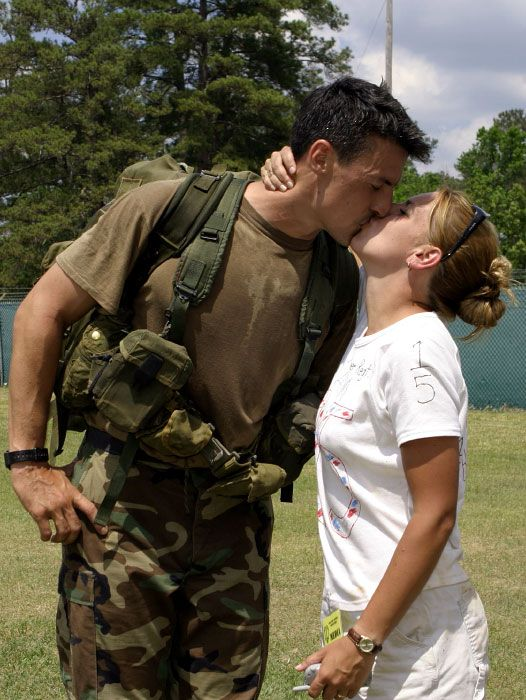 Gay male couple's first kiss makes navy history
