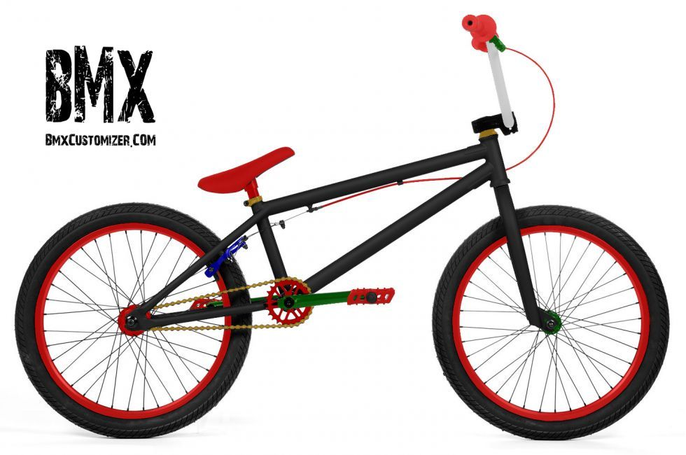 Customized BMX color scheme designed and published on www