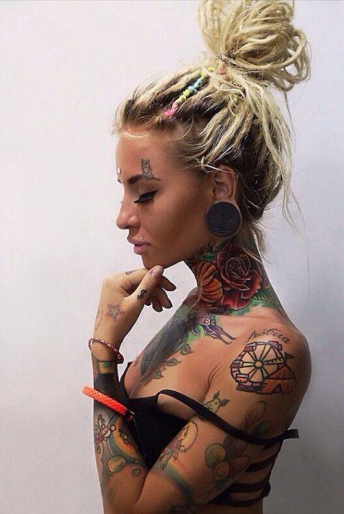 Inked girl alternative girl body modification tattoo girl for Tattoo punk porn