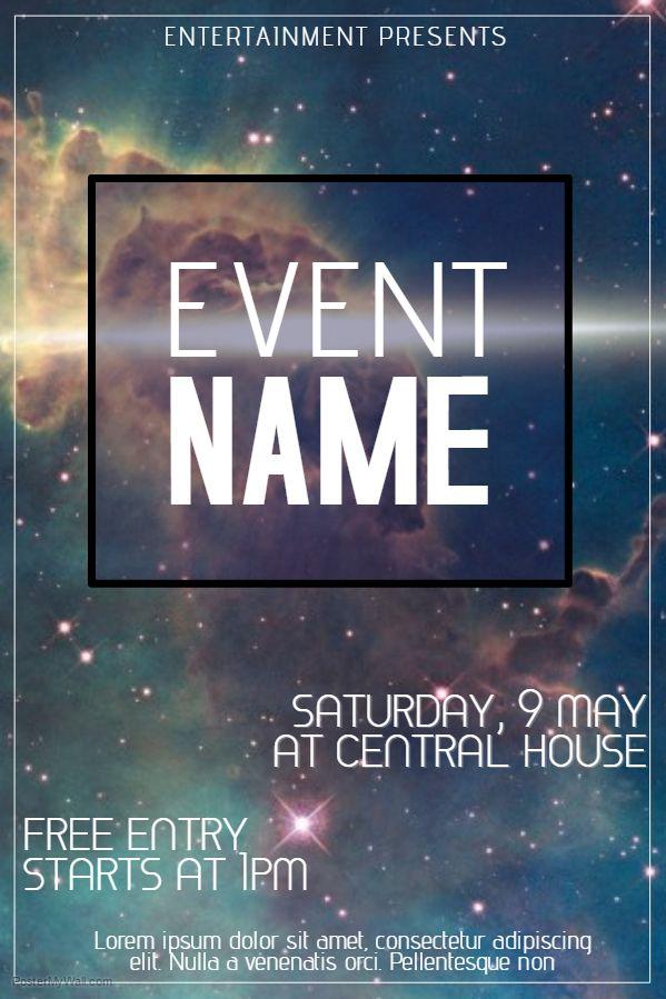 Sci Fi Event Flyer Template Event Flyer Templates Pinterest