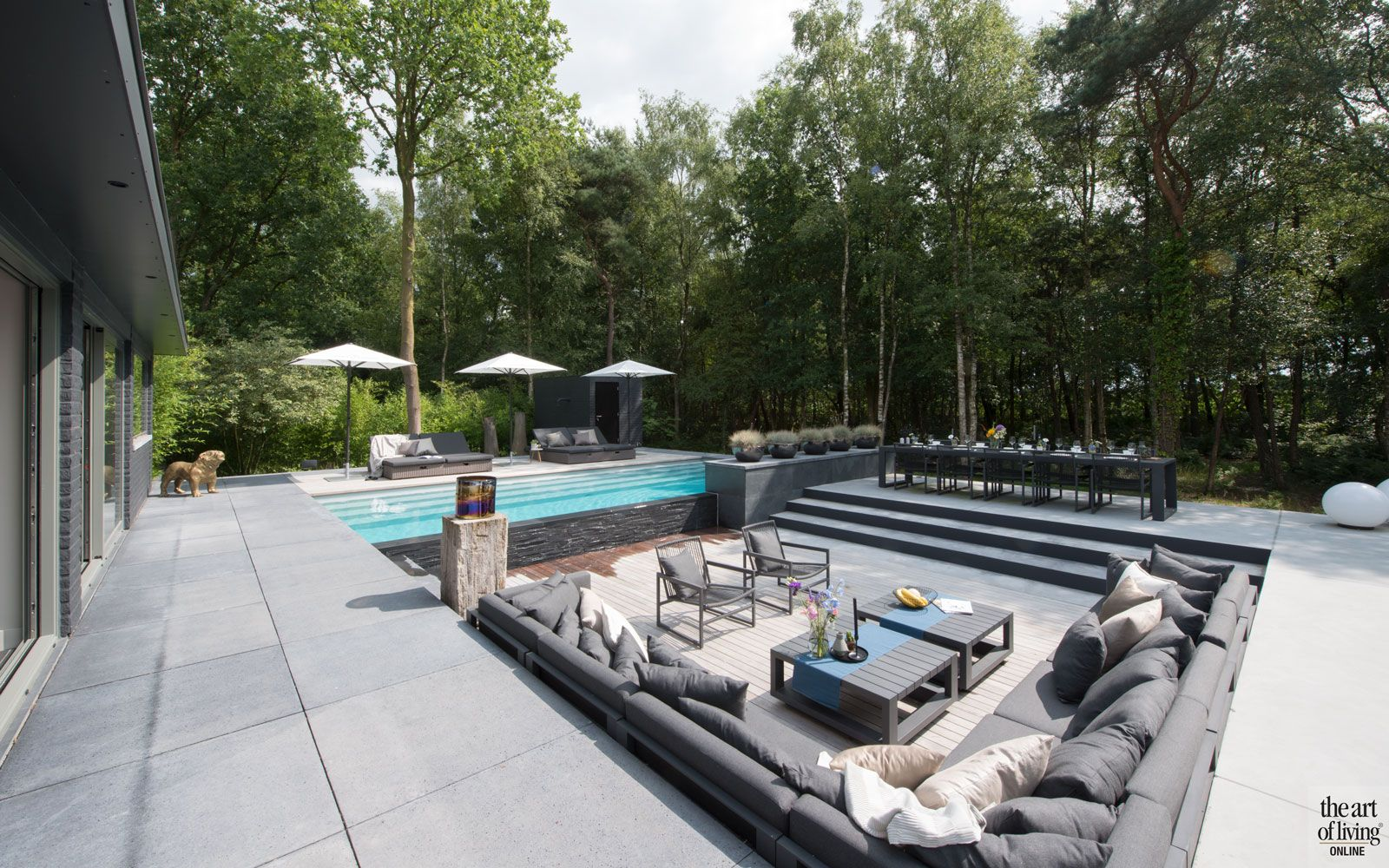 Wellnesstuin tuin garden furniture and studio