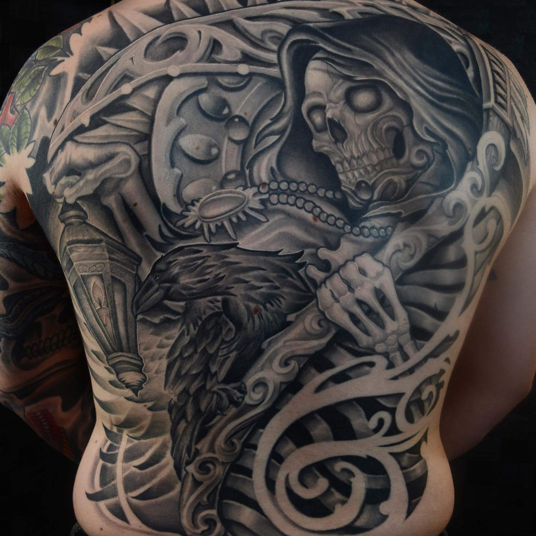 Grim Reaper Back Tattoo: My Grim Reaper Back Piece Done By Chris Ramirez At
