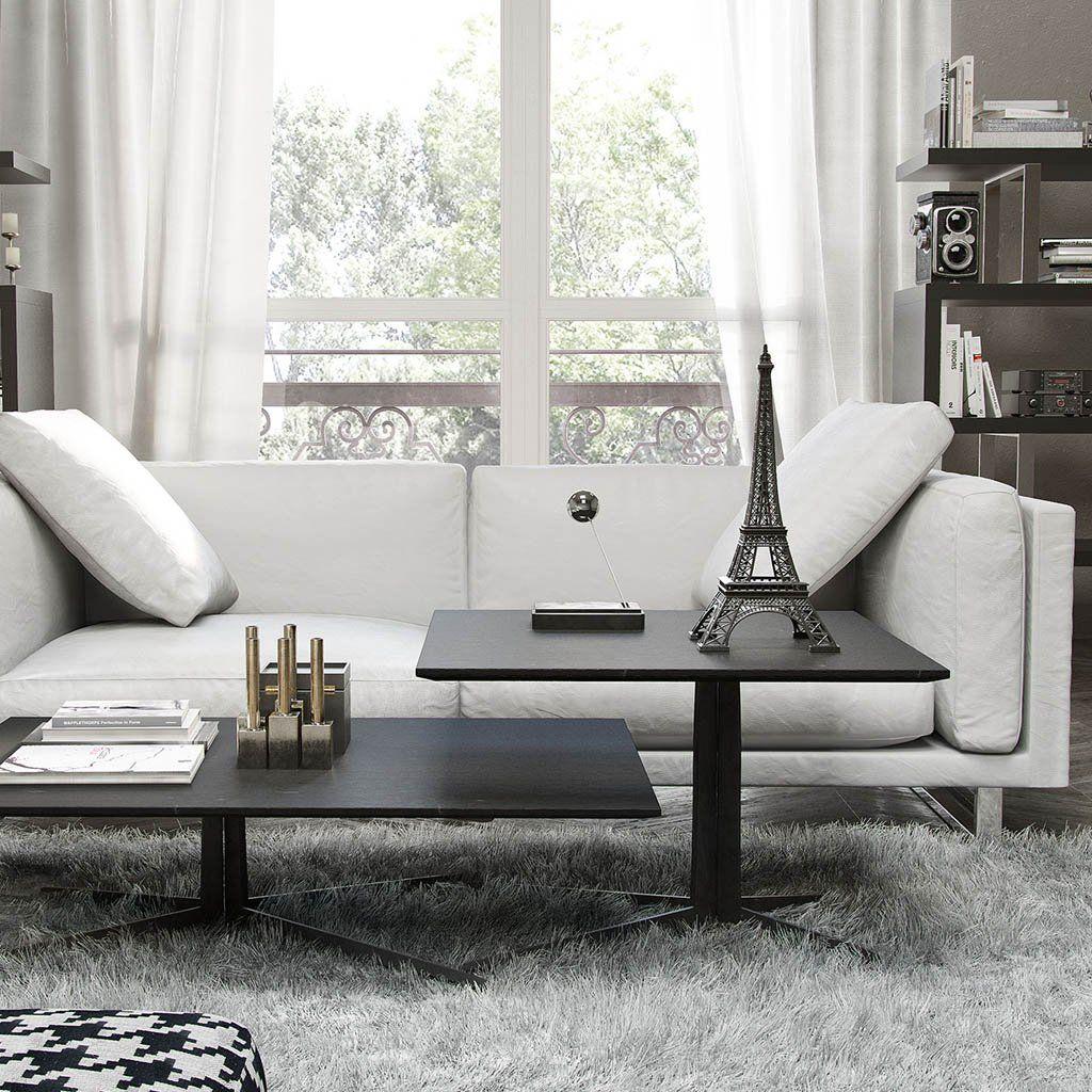 White Leather Living Room Sofa ModLoft Furniture