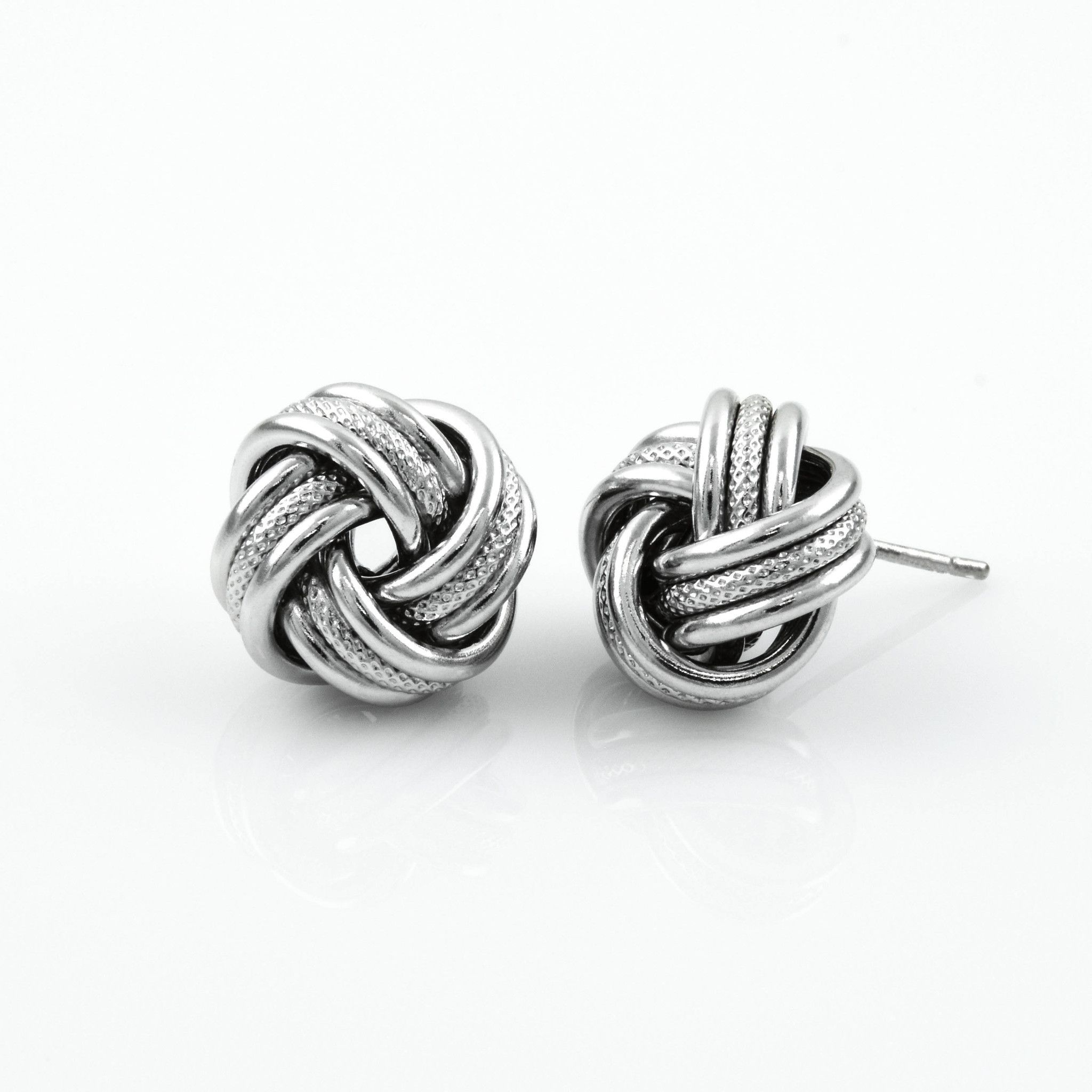 9433612b5bc47d Textured Silver Love Knot Studs | ~ Shop Plante Jewelry ~ | Jewelry ...