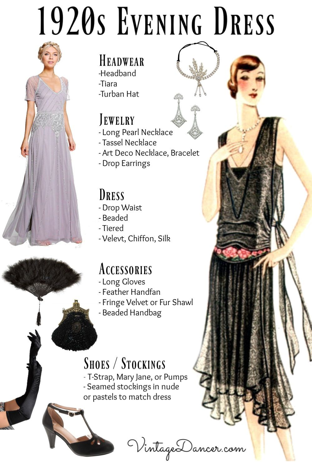 formal 1920s evening gown