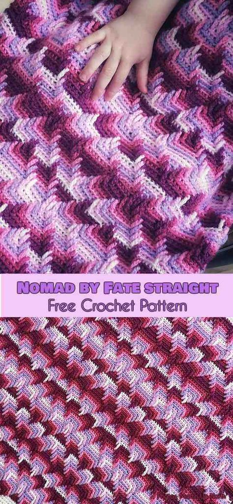 Nomad by Fate Straight Blanket Free Crochet Pattern | Manta afgana ...