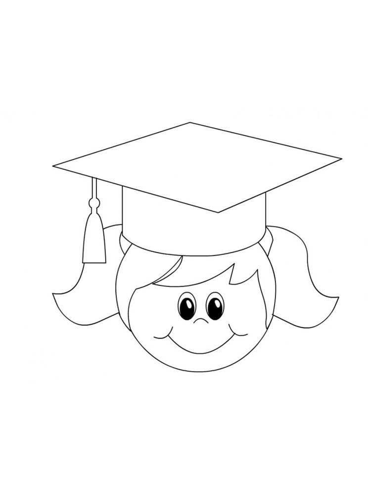 Graduation Coloring Pages For Kindergarten