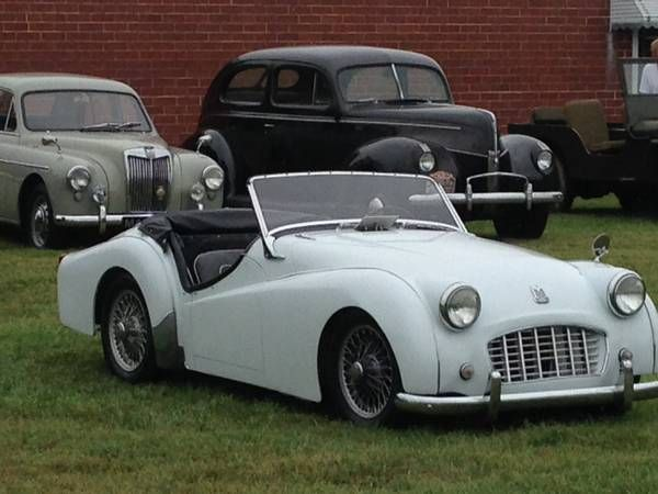 1956 Triumph TR3 early small mouth, $19,888. Mooresville ...