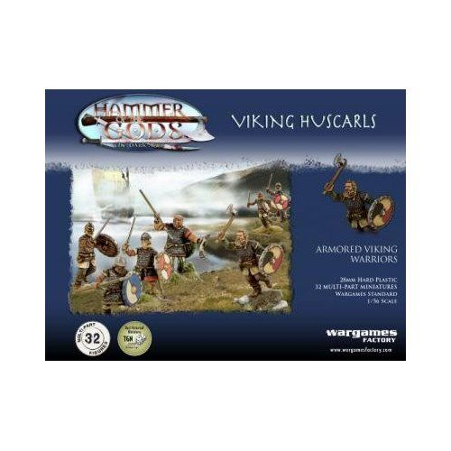 Hammer Of The Gods Viking Huscarls 1 56 Scale 28mm Wargames Factory 32 Unpainted Polystyrene Figures 15 4 Vikings Wargames Factory Miniature Wargaming