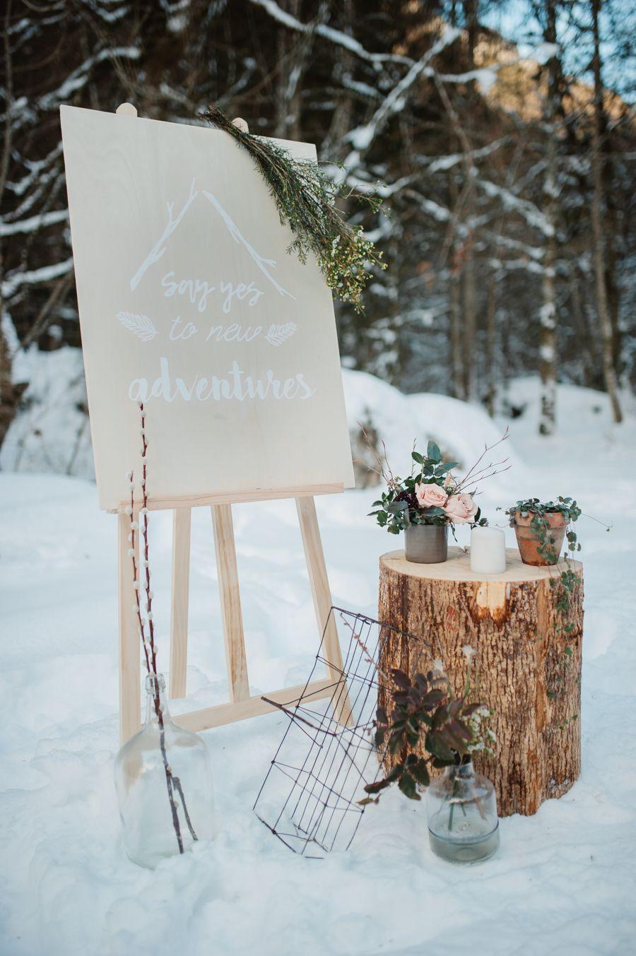 Un Mariage D Hiver Scandi Folk Dans Les Alpes Fleuriste Lyon