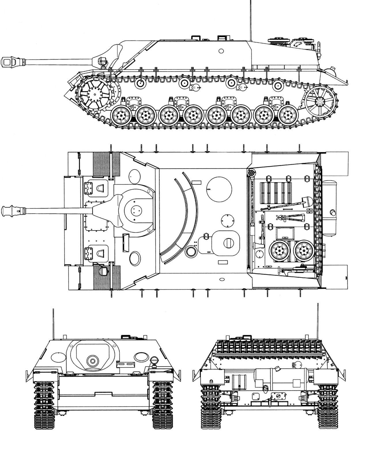 Las Cosicas del Panzer — Perfil Jagdpanzer IV, el pato de Guderian