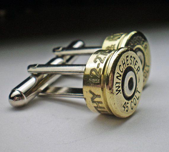 9 mm Nickel Bullet Engraved Personalized Bullet Cufflinks Wedding Gift Groomsman Best Man