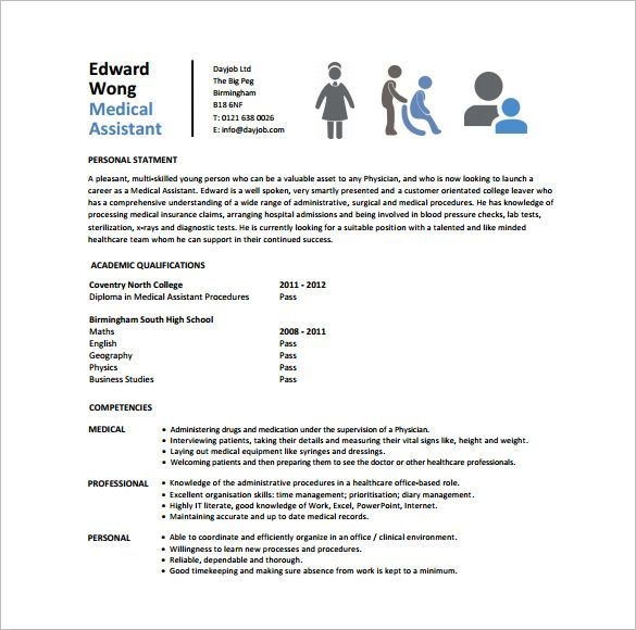 Resume Template Download Free Medical Assistant Resume Template  8 Free Word Excel Pdf