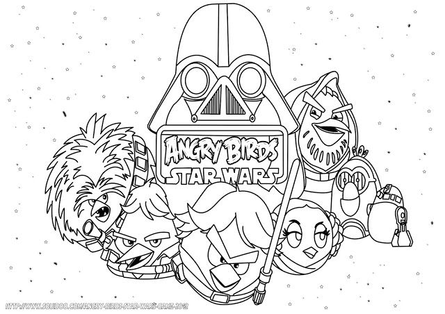 Angry Birds Coloring Pages Blackbird 08