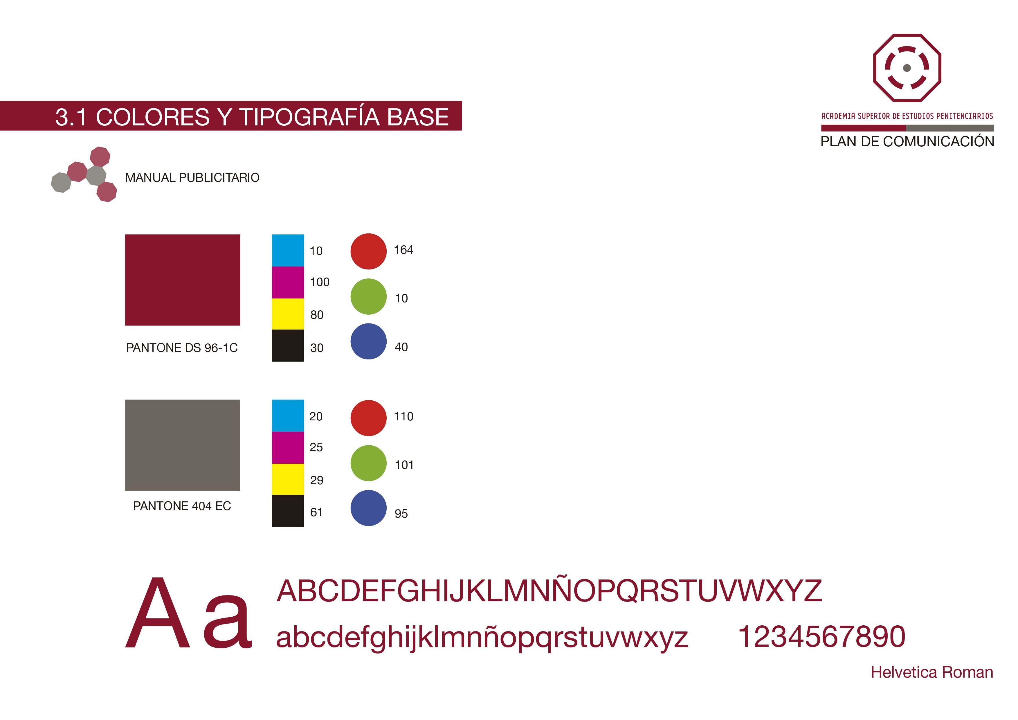 Colores y Tipografia Base