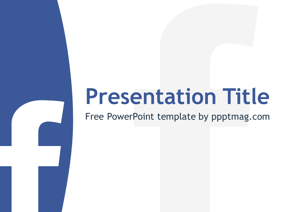 The free facebook powerpoint template has a white background with the free facebook powerpoint template has a white background with blue details and facebook logo that maxwellsz