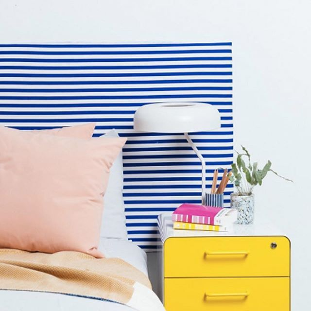 What if you turned an Ikea table top into a headboard?  by @dominomag