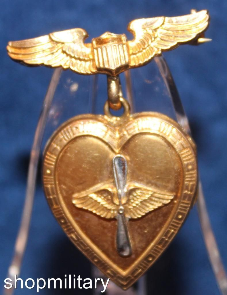 VINTAGE WWII US ARMY AIR FORCE USAAF PILOT LOCKET DANGLE SWEETHEART PIN 5929 | eBay