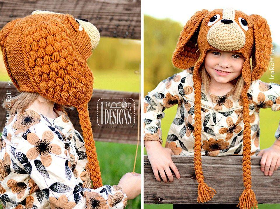 CoCo the Cocker Spaniel Puppy Dog Hat PDF Crochet Pattern by IraRott Inc. ad56213a6f88