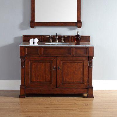 James Martin Furniture Brookfield 48 Single Warm Cherry