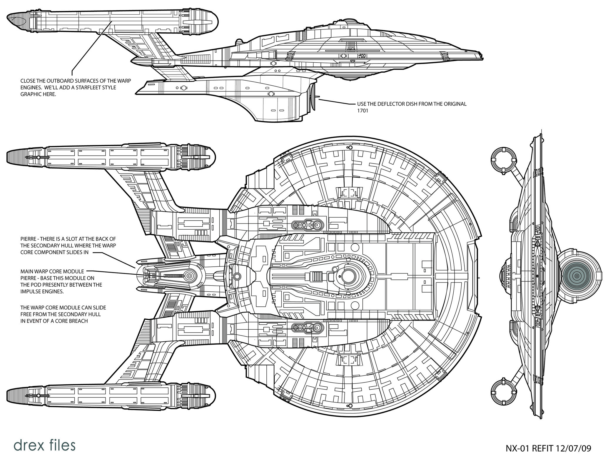 star trek nx01 diagram