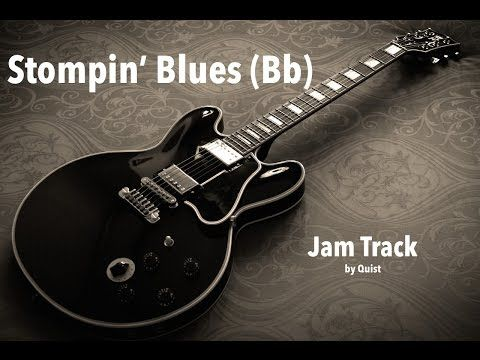 Fast Stompin' Blues Guitar Backing Track (Bb) - YouTube