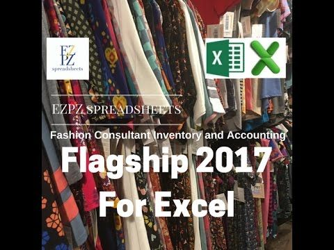 ezpz spreadsheets flagship version for excel lularoe inventory and accounting spreadsheet youtube
