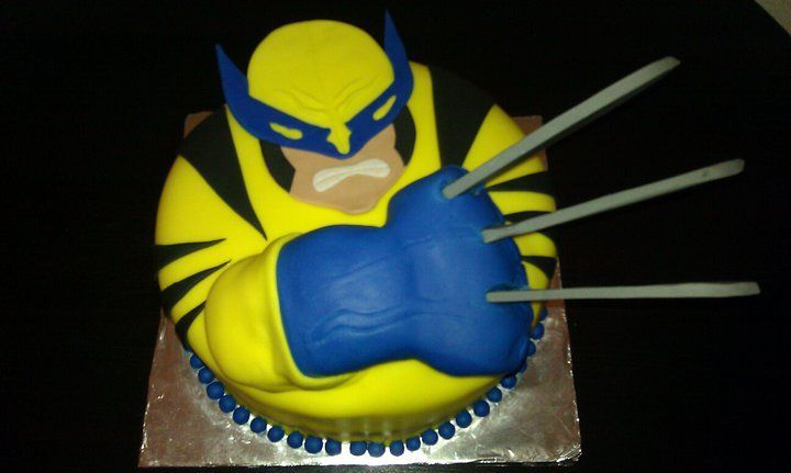 Super Wolverine With Blades With Images Wolverine Cake Novelty Personalised Birthday Cards Veneteletsinfo