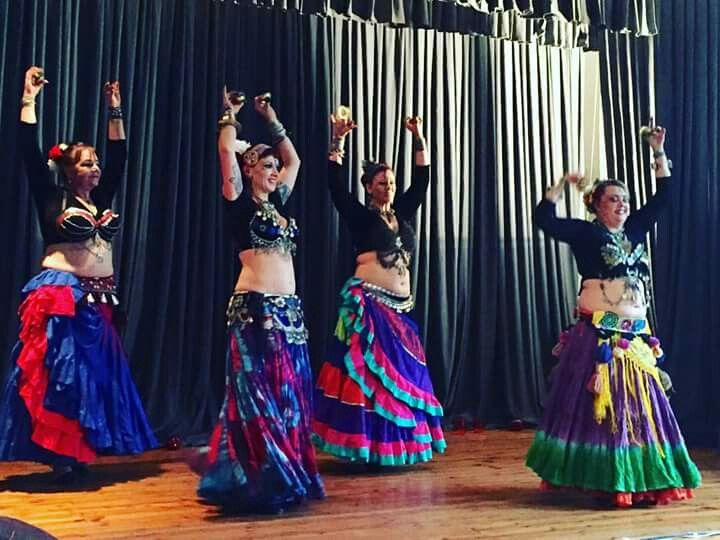 Adele,  Candida,  Heather and Joanne at world belly dance day 2016.