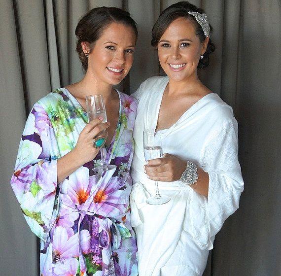 Bridesmaid Robes, Wedding Robes, Bridal Robes, Bridal Sleepwear, Women's Sleepwear, Getting Ready, Bridesmaid Gift Made to order! Shop the Piyama Bridal Boutique: https://www.etsy.com/au/shop/Piyama