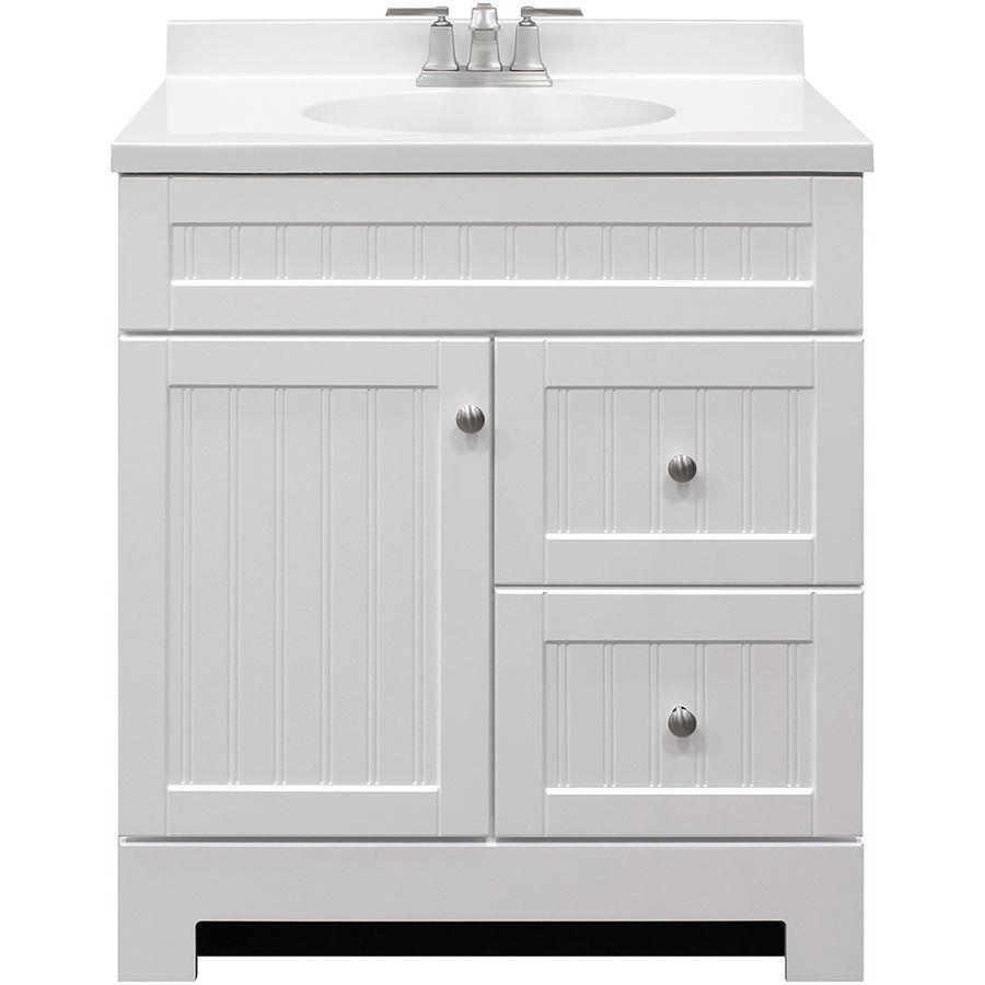 shop style selections ellenbee white integral 1 bathroom vanity with rh pinterest com