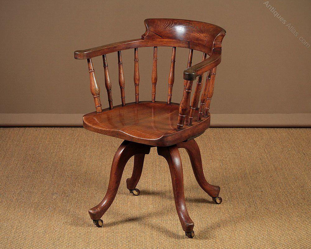 Cool Revolving Oak Desk Chair C 1905 Antiques Atlas Dining Uwap Interior Chair Design Uwaporg