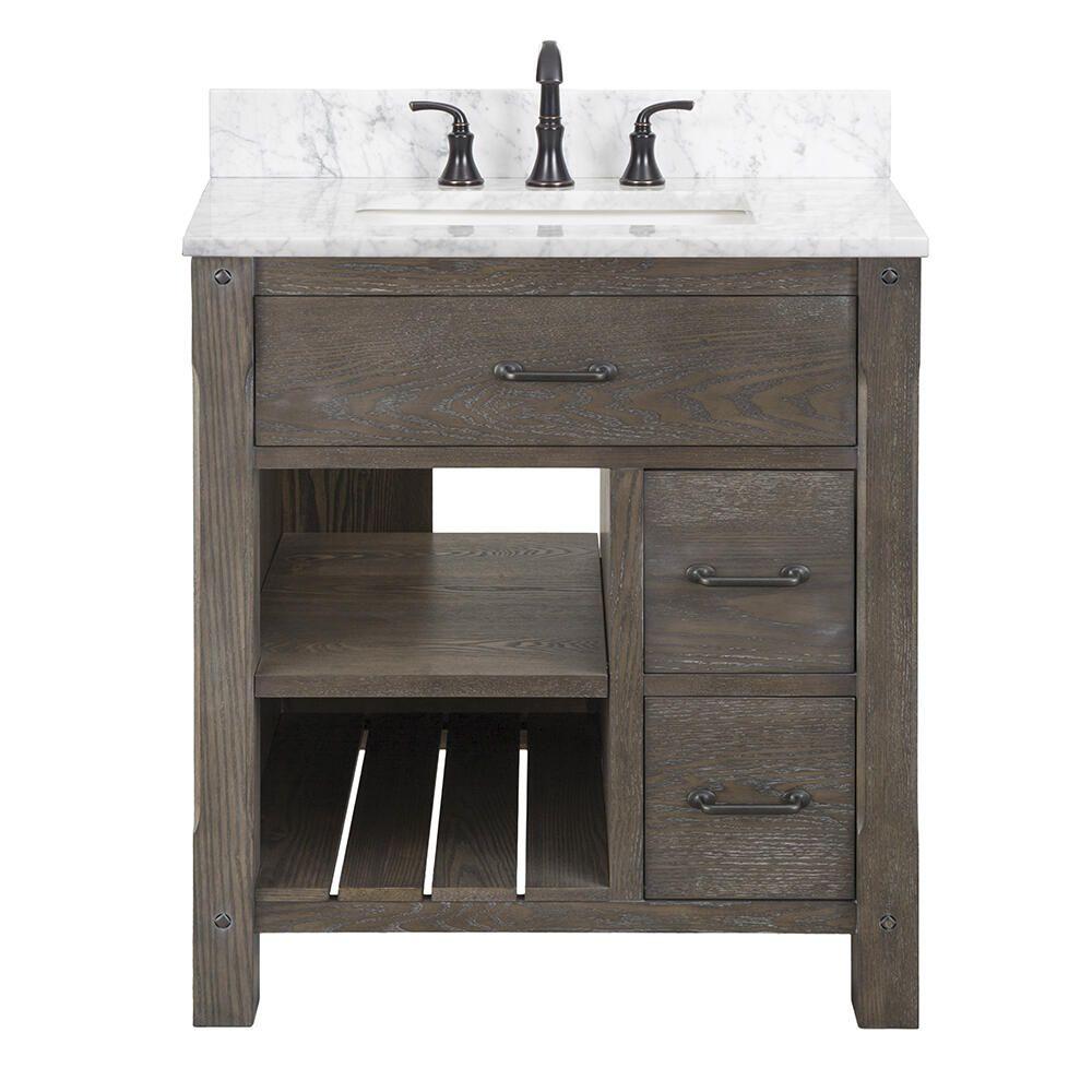 Foremost Roberson 30 W X 21 1 2 D Dark Oak Bathroom Vanity Cabinet At Menards In 2021 Oak Bathroom Vanity Vanity Cabinet Bathroom Vanity Tops