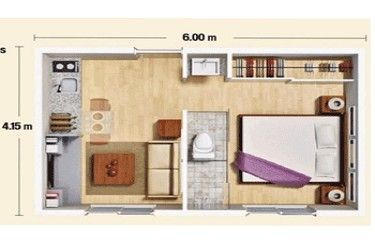 Construir n mini departamentos de 25 m2 apartamento for Mini casa minimalista