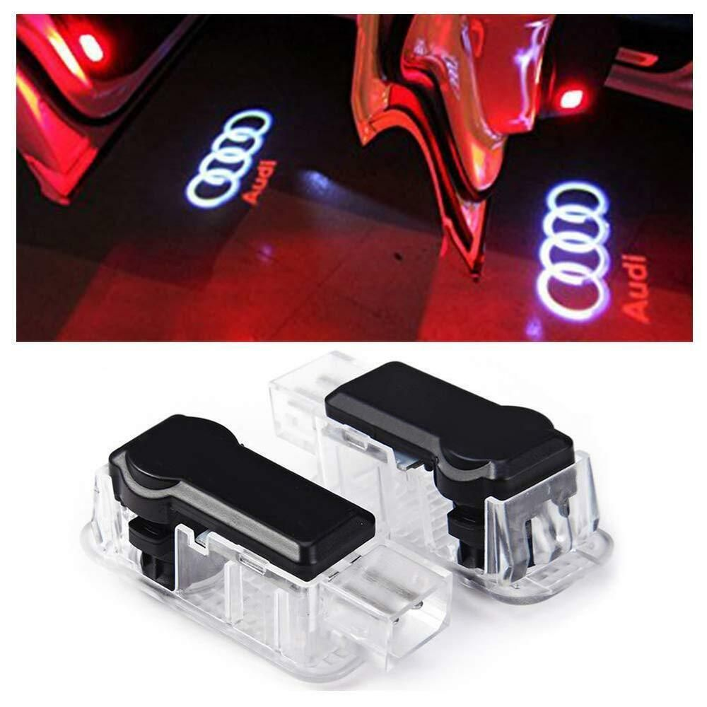 Inlink 2 X Cree Car Door Led Light Ghost Shadow Logo Projector For Audi Inlink