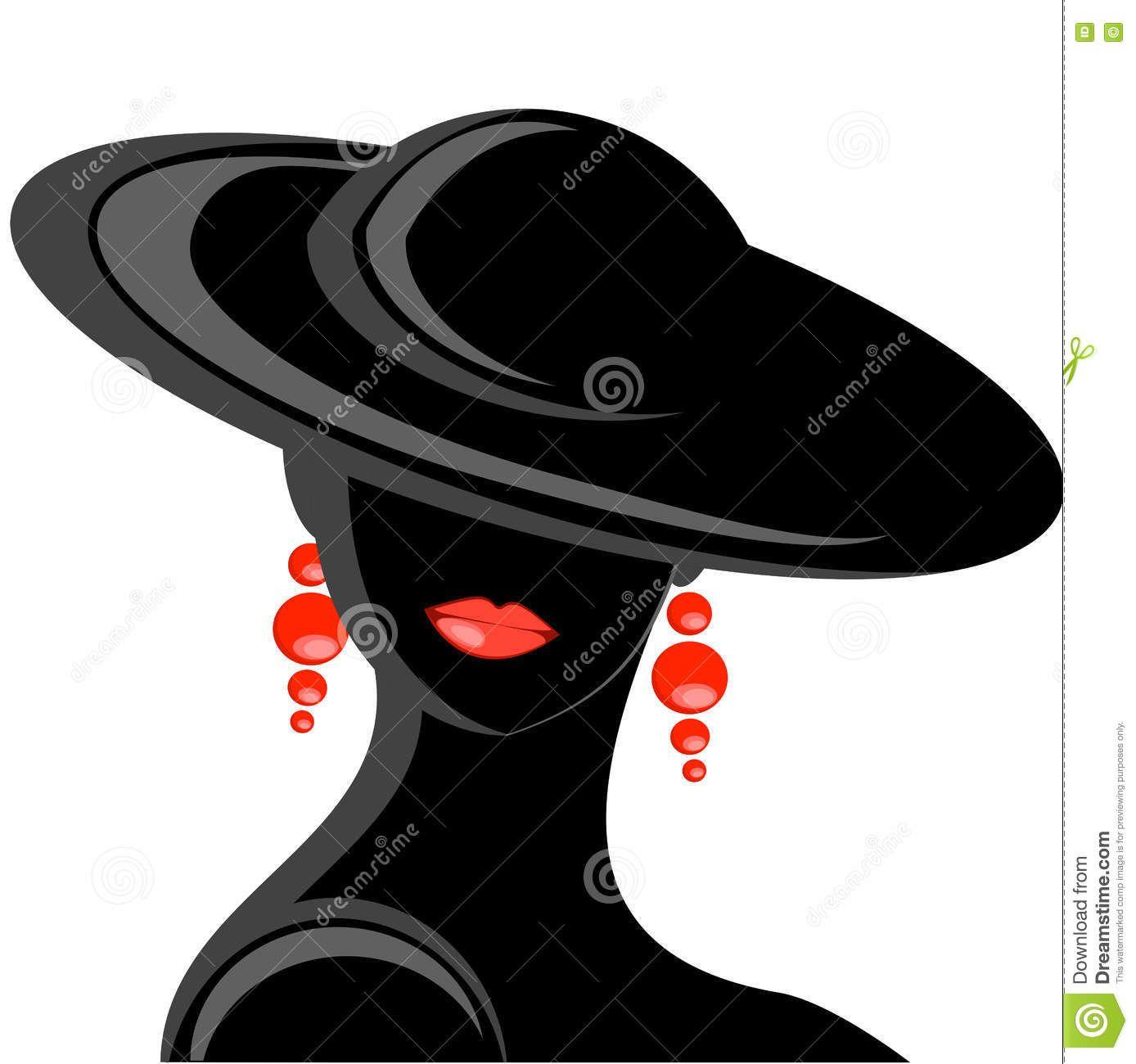 Pin by daniel erwin on silhouette hat vector women