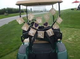 Wedding golf buggy ideas
