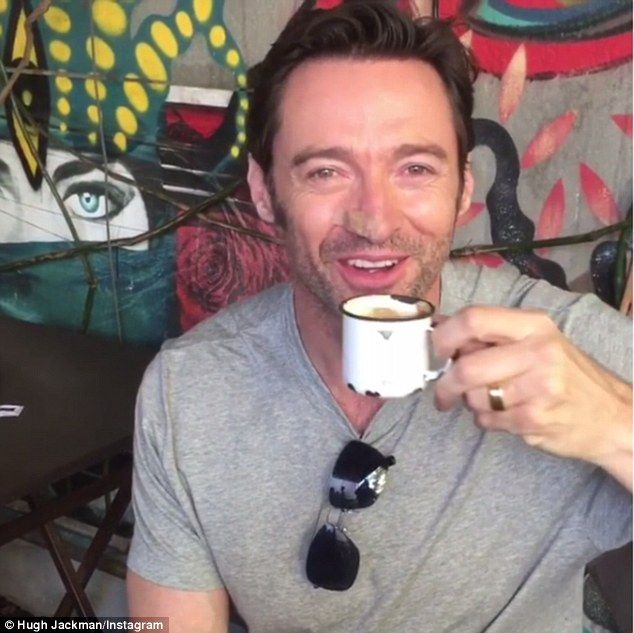 Hugh jackman greets fans with a portuguese message hugh jackman australian actor hugh jackman wearing a nude coloured bandage after skin caner surgery has greeted fans in portuguese before logan press conference m4hsunfo