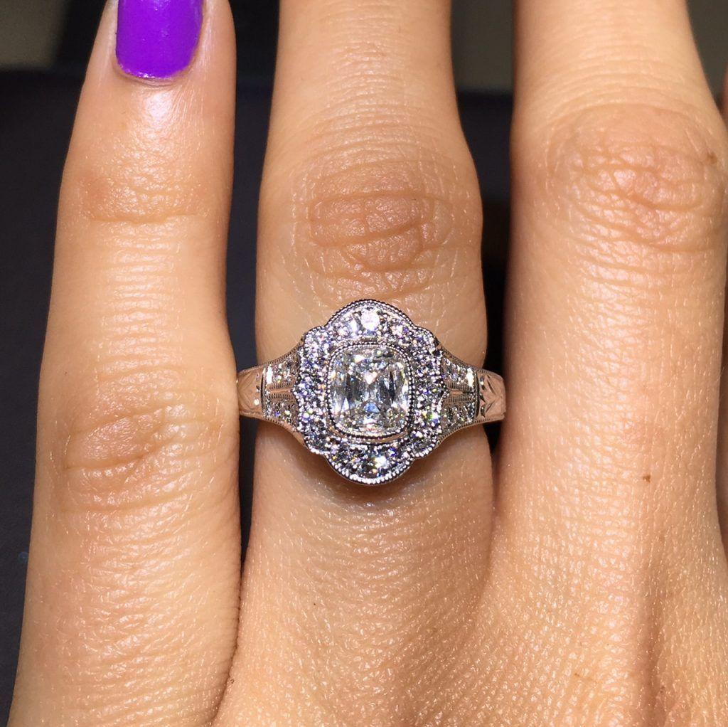 Henri daussi halo engagement ring rings pinterest halo
