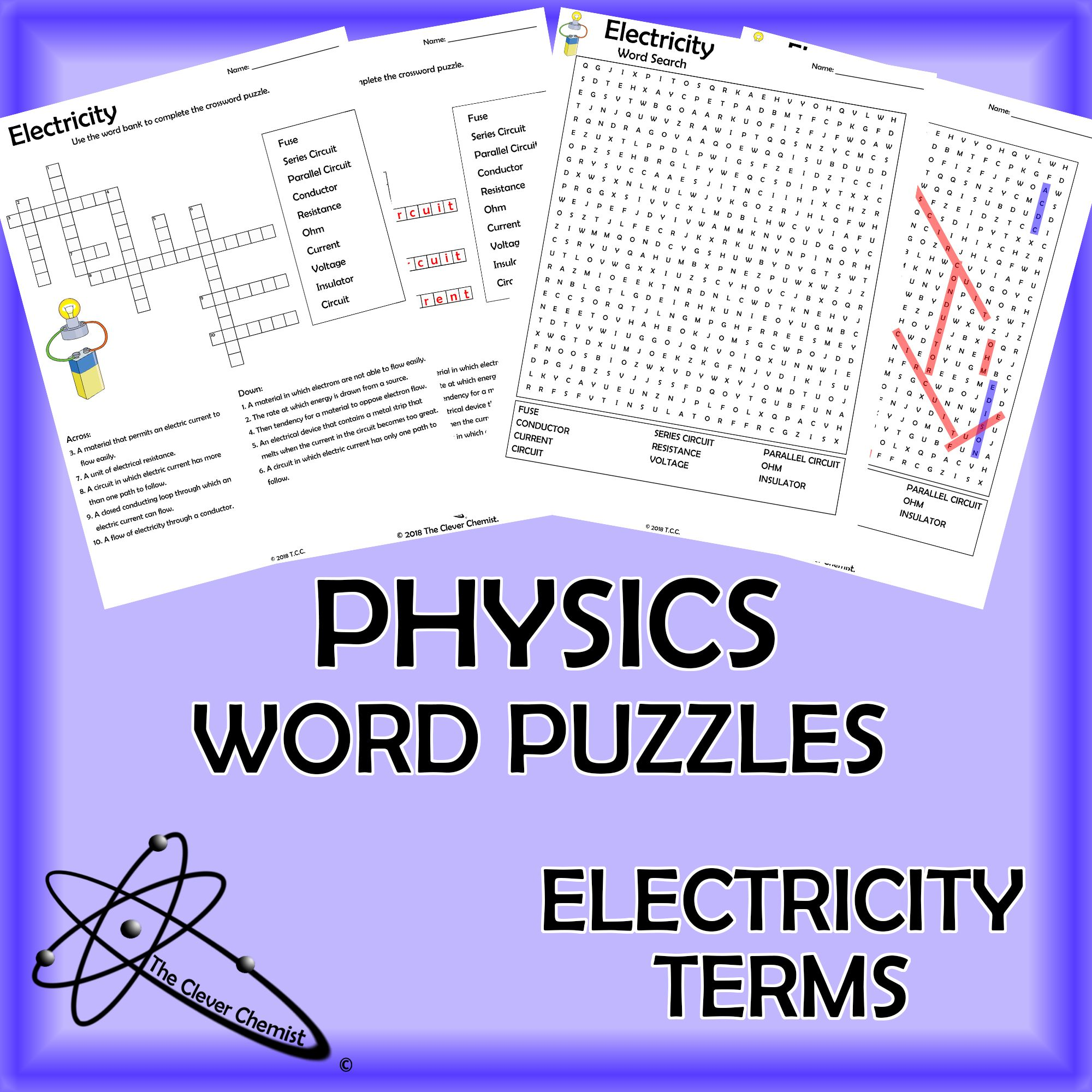 Physics Word Puzzles