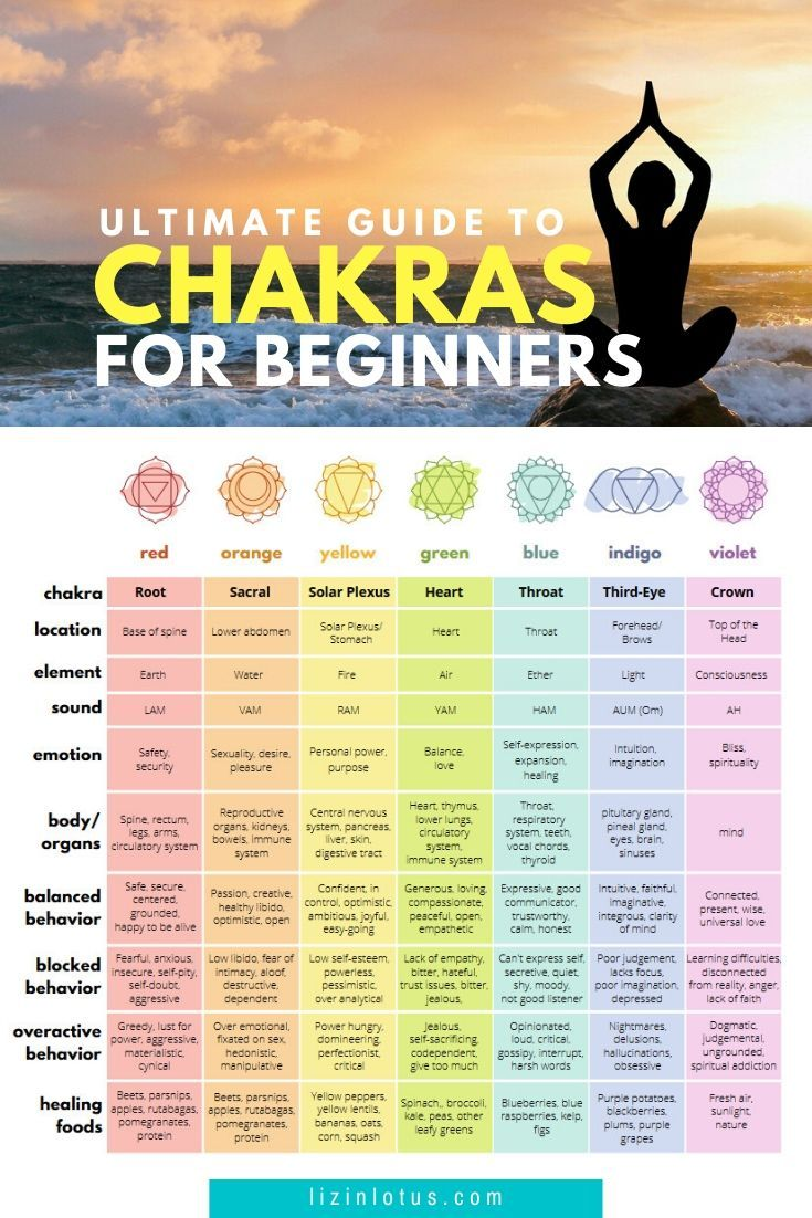 Ultimate Guide to Chakras for Beginners Printable