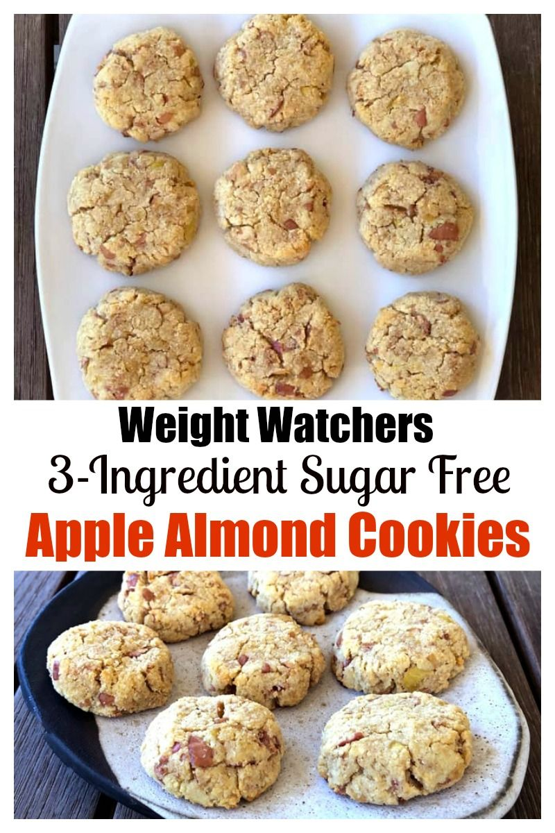 Weight Watchers 3-Ingredient Sugar Free Apple Almond Cookies