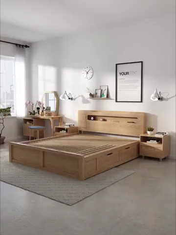 Usb Modern Bed With Storage Space Underneath Diy Home Decor