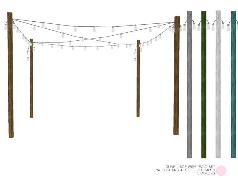 Yard String 4 Pole Light Mesh by DOT of The Sims Resource