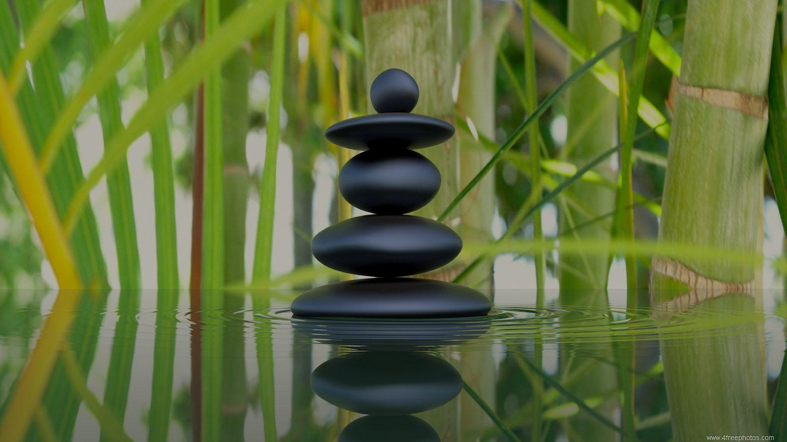 Bamboo and zen stones wallpaper | Wallpaper Wide HD | Zen ...