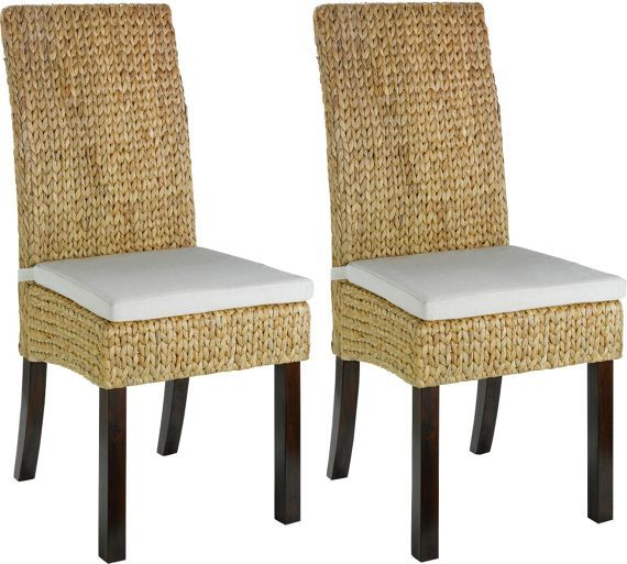 Buy Heart of House Pair of Rattan Dining Chairs - Walnut Stain at Argos.co.uk, visit Argos.co.uk to shop online for Dining chairs, Dining tables and chairs, Home and garden
