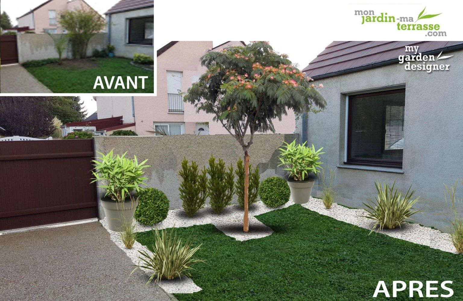 Am nager petit jardin 30m2 id es futur appart terrasse for Exemple amenagement maison