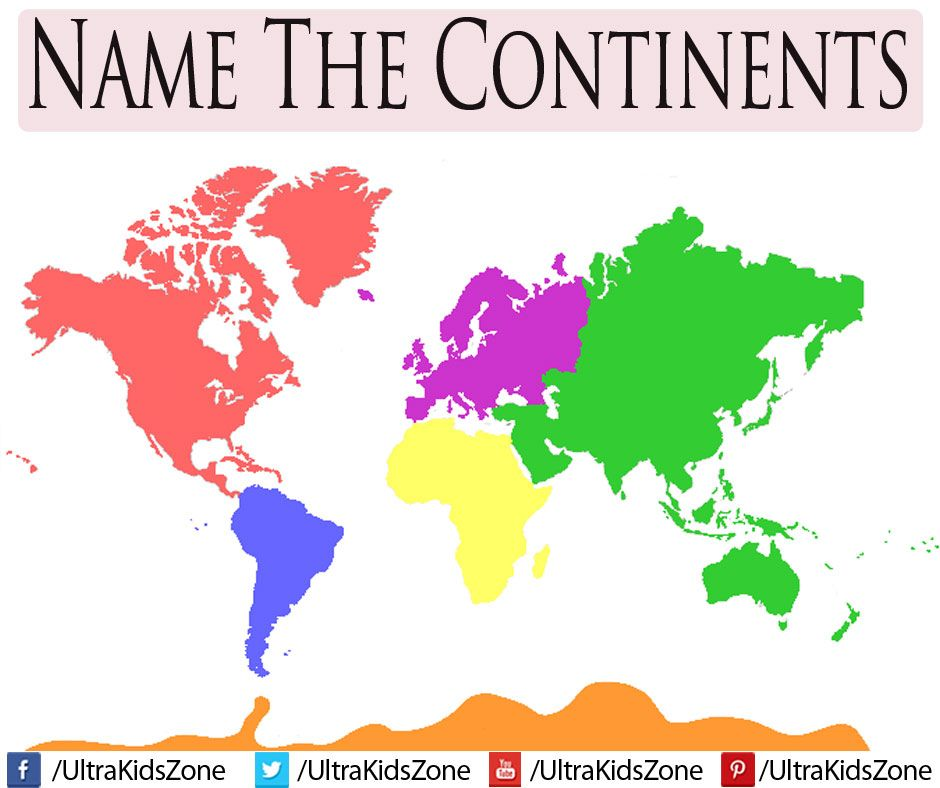 Can You Name The Continents Of The World Hint Httpyoutu - Name of continents