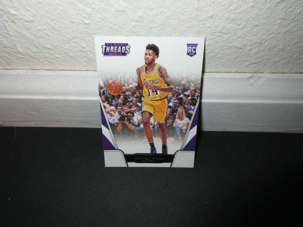 9f93e9cb345 2016-17 PANINI THREADS BRANDON INGRAM ROOKIE CARD #166 LOS ANGELES LAKERS # LosAngelesLakers